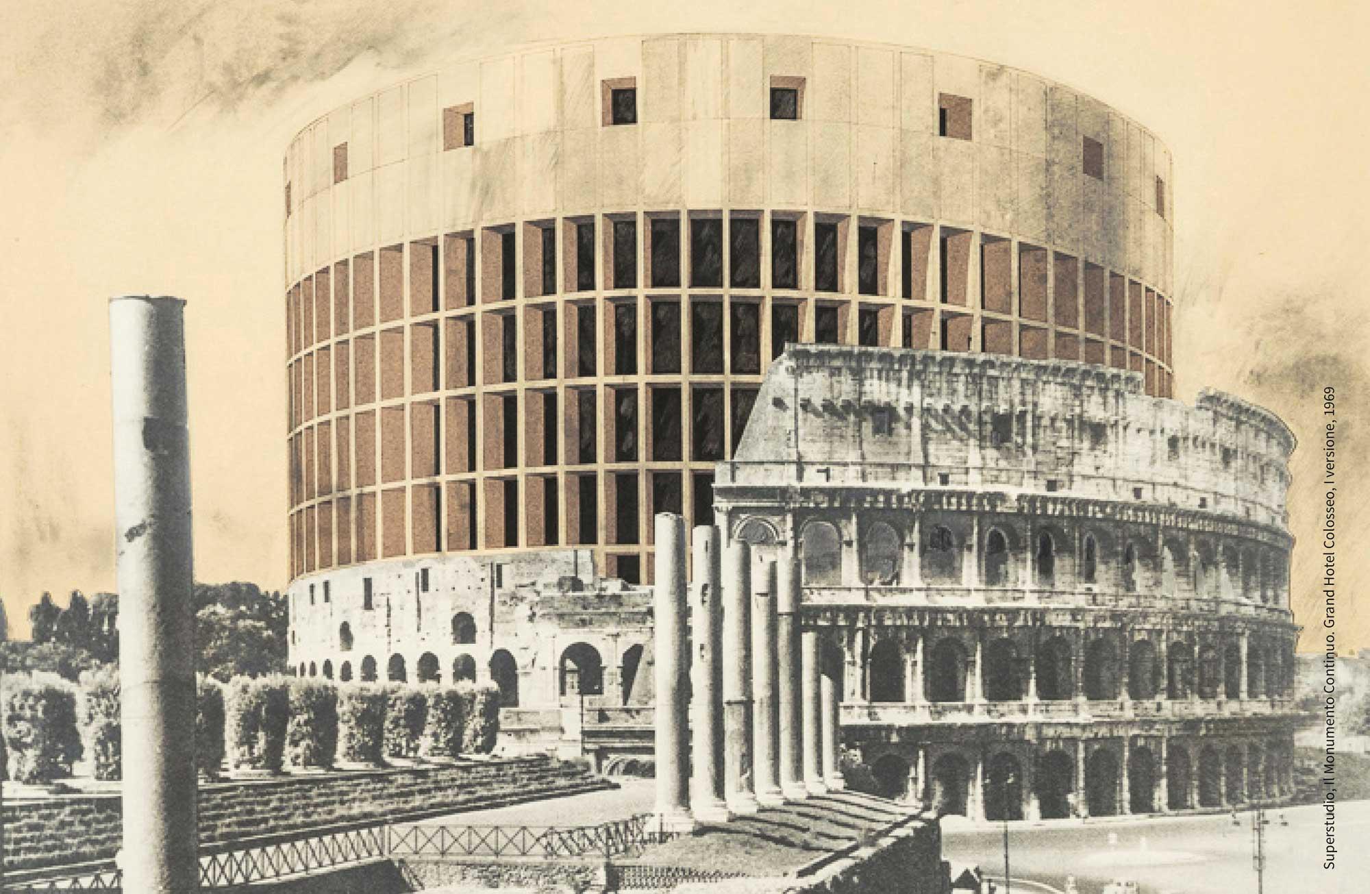 Superstudio-Il-Monumento-Continuo-Grand-Hotel-Colosseo-1969-courtesy-Fondazione-MAXXI-Roma